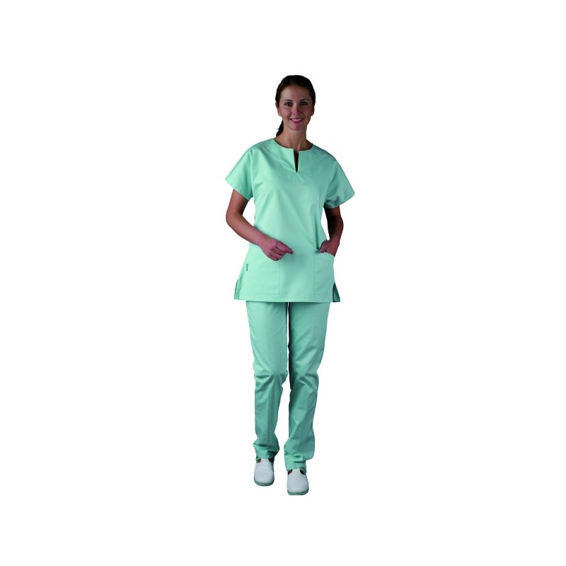 Tunique infirmiere Blanche medical parement violet